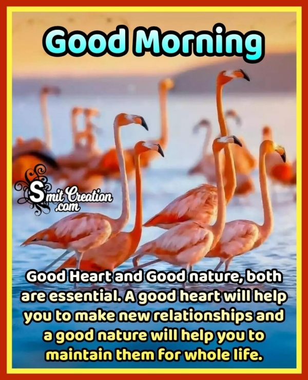 Good Morning Good Heart And Good Nature