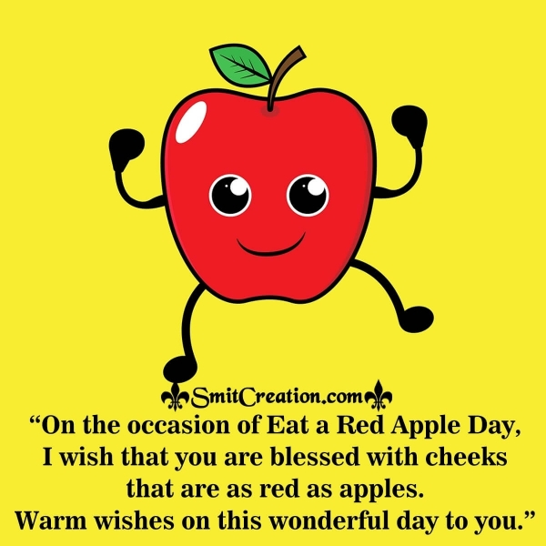 Eat A Red Apple Day Messages