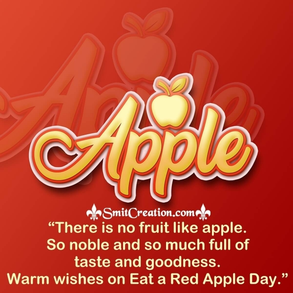 Eat A Red Apple Day Slogans