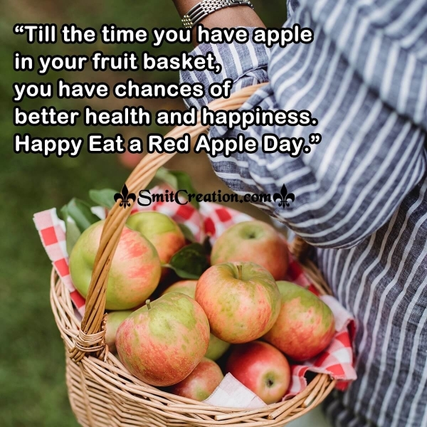 Happy Eat a Red Apple Day Quote