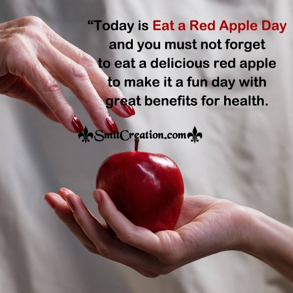 Eat a Red Apple Day Message