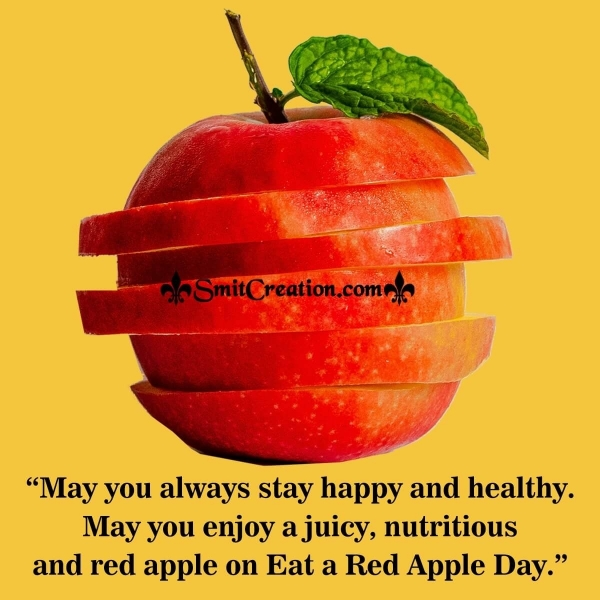 Happy Eat a Red Apple Day Wishes