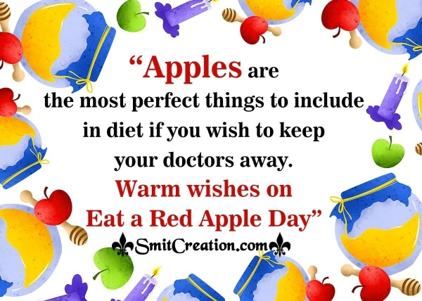 Warm Wishes On Eat A Red Apple Day to you