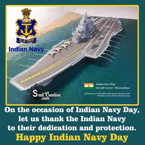 Indian Navy Day Thanks Quote