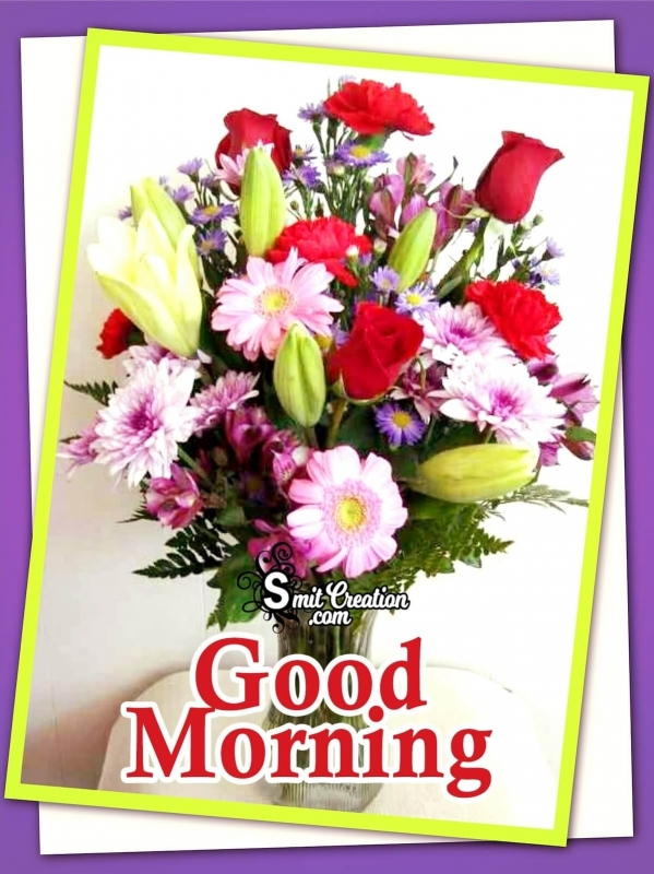 Good Morning Colourful Bouquet Pictures