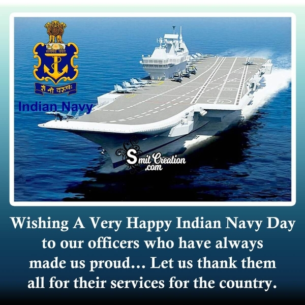 Wishing A Very Happy Indian Navy Day