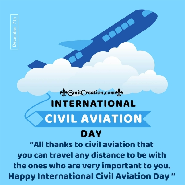 International Civil Aviation Day Thank You Message