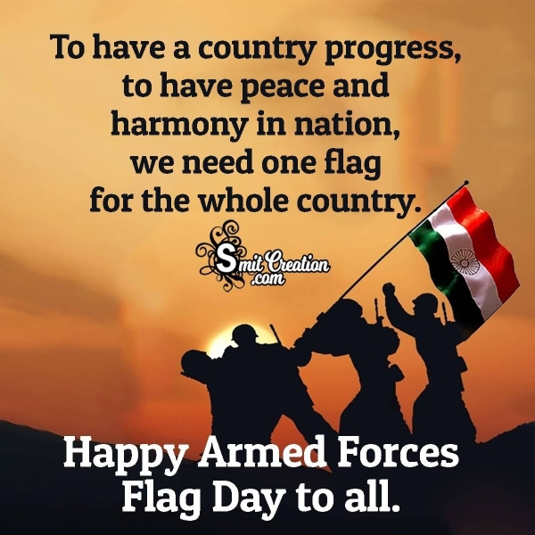 Happy Armed Forces Flag Day Messages