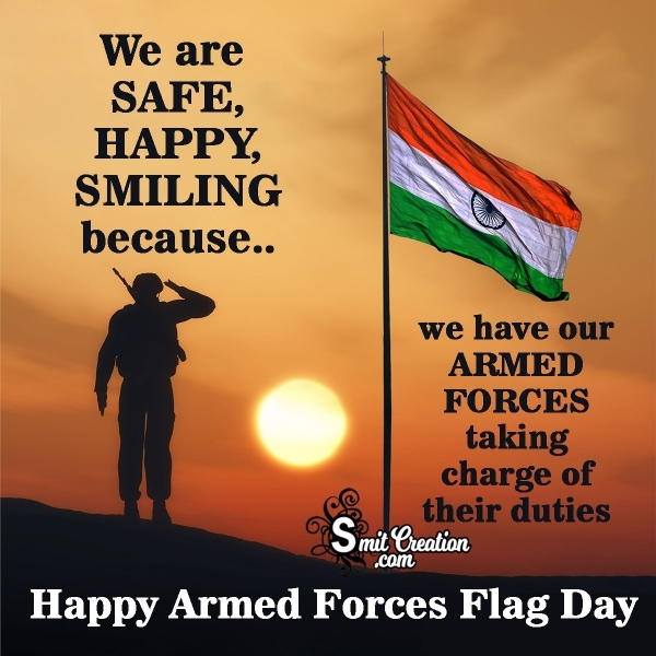 Indian Armed Forces Flag Day Inspirational Quotes