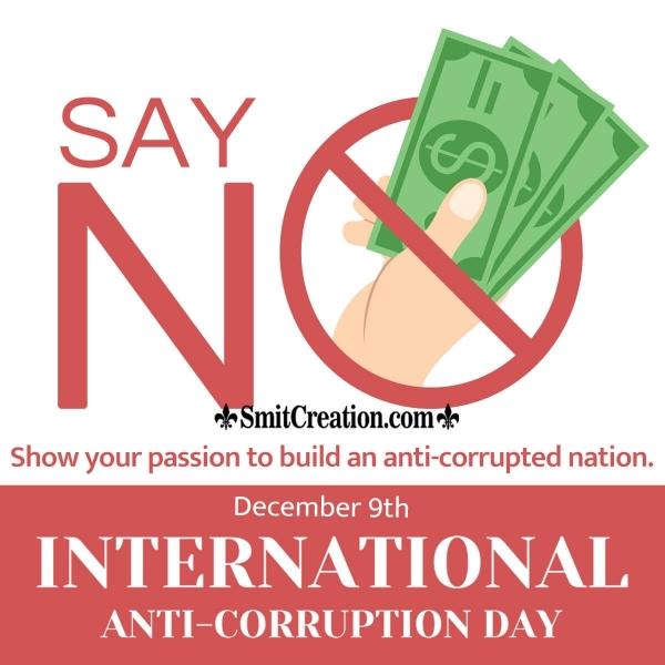 Say No To Corruption Slogan