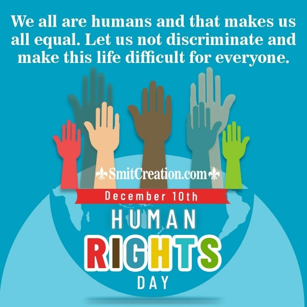 Best Messages On Human Rights Day For Students And Children In English