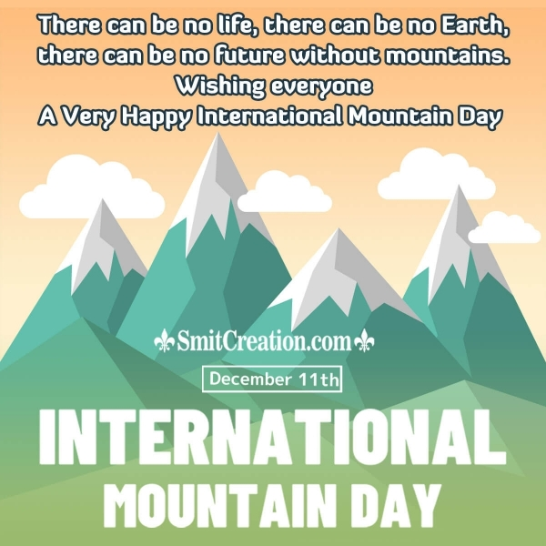 Happy International Mountain Day Messages
