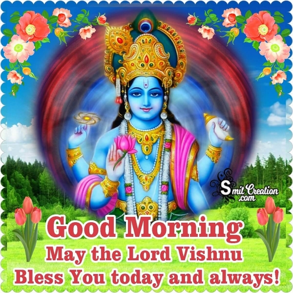Good Morning Lord Vishnu Blessings