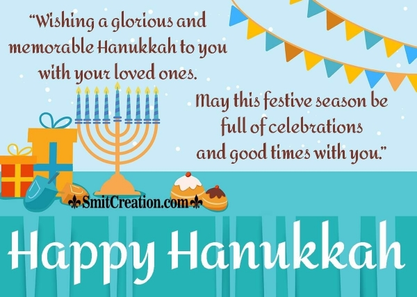 Happy Hanukkah Wish Image