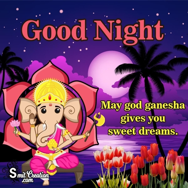Good Night Ganesha Images