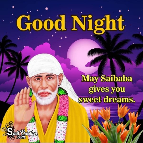 Good Night Sai Baba Images