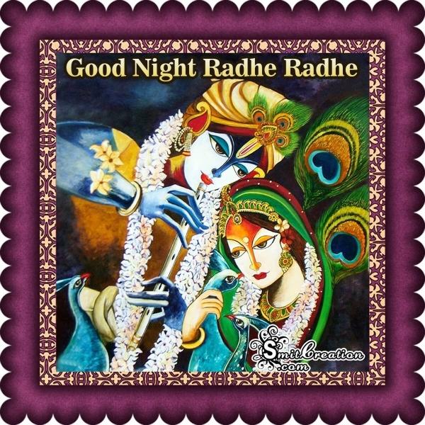 Good Night Radhe Radhe Image