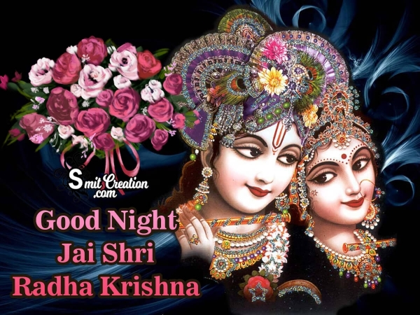 Radha Krishna Good Night Images