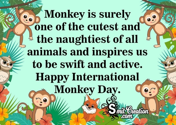 Happy Monkey Day Messages Images