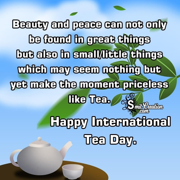 Happy International TEA DAY Image