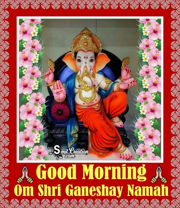 Good Morning Ganesha Images