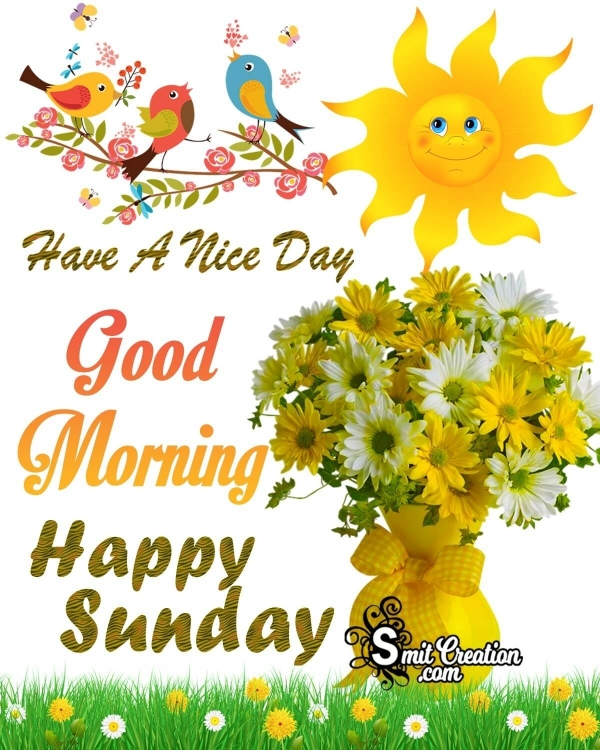 Good Morning Happy Sunday Nice Day