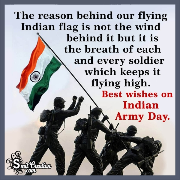Happy Indian Army Day Wishes