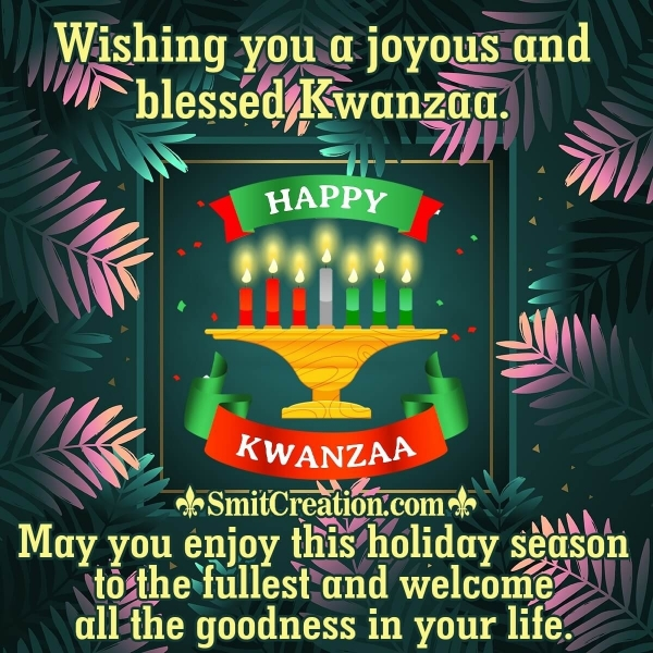 Happy Kwanzaa Best Wishes
