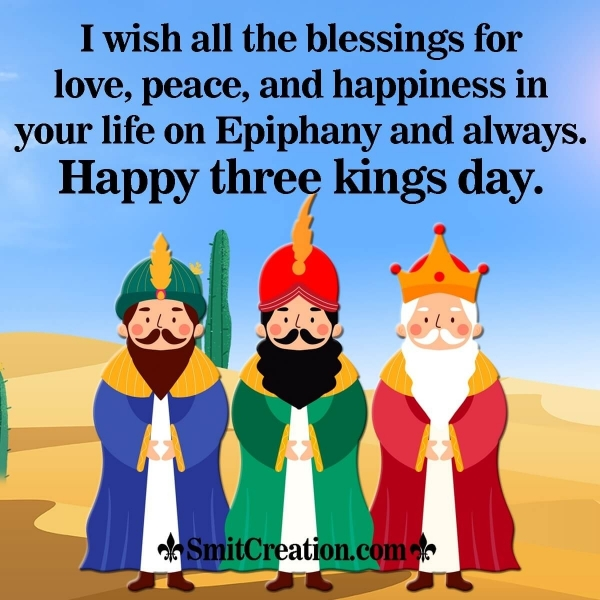 Happy Three Kings Day Blessing Image