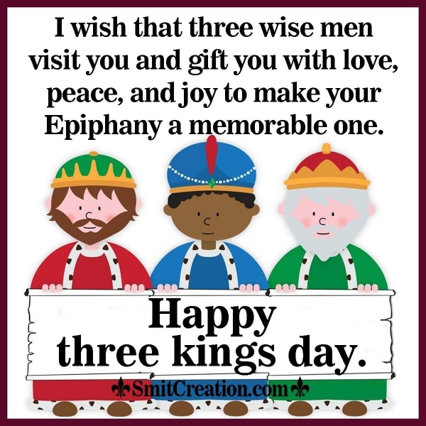 Happy Three Kings Day Wish Image