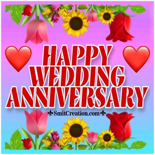 Happy Wedding Anniversary Text Image