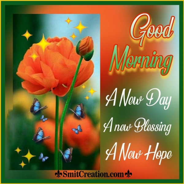 Good Morning New Day New Blessing New Hope