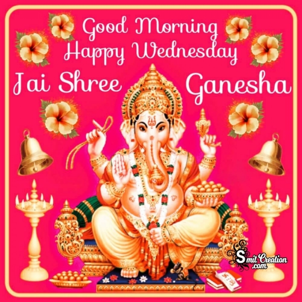 Good Morning Happy Wednesday Ganesha Image