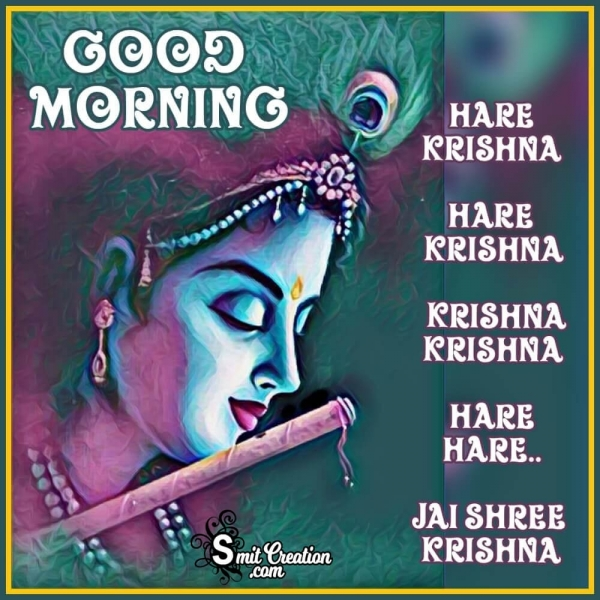 Good Morning Hare Krishna Image