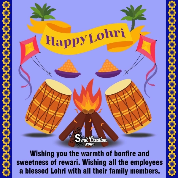 Happy Lohri Wishes Messages To Employees