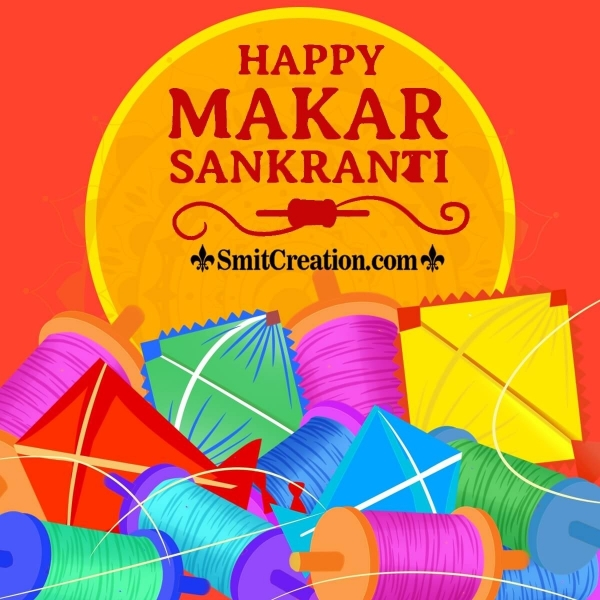 Happy Makar Sankranti With Kites