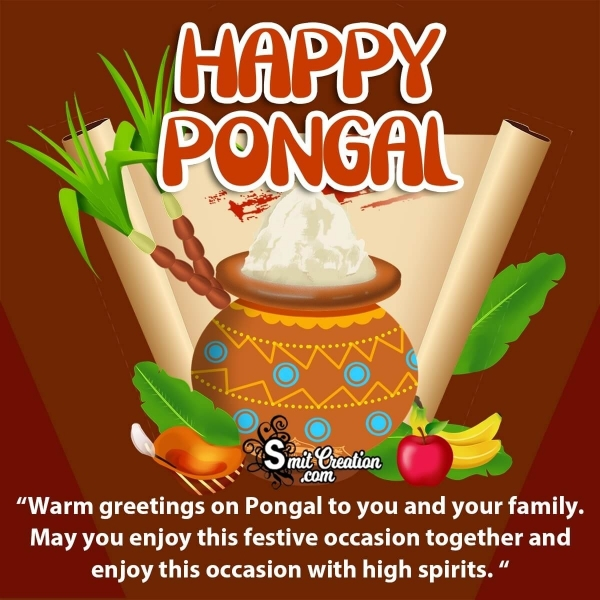 Happy Pongal Greeting Messages