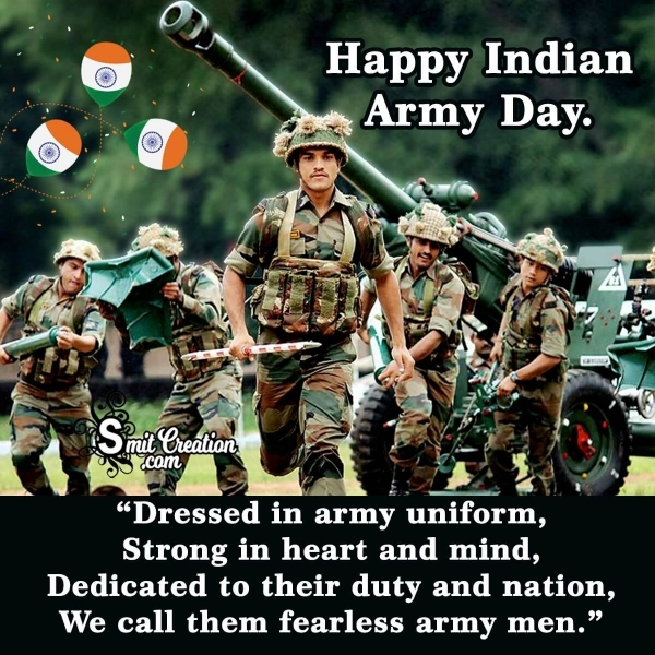 Happy Indian Army Day Quotes