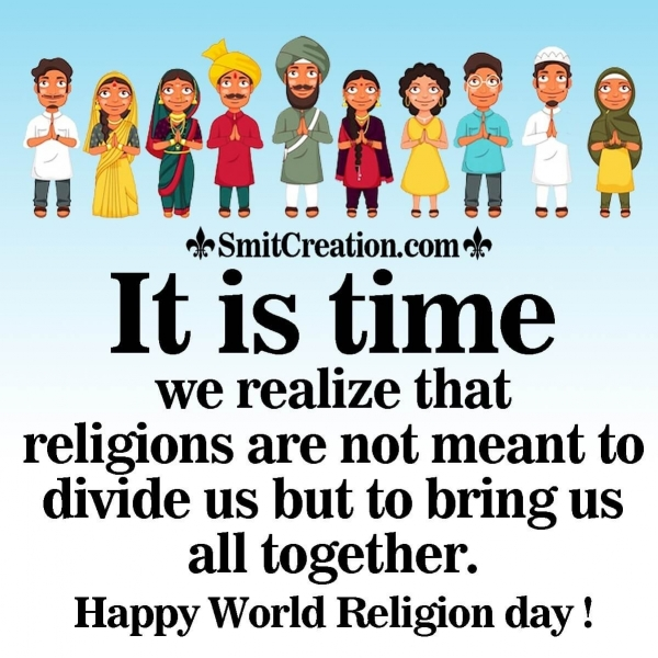 Happy World Religion Day Status Image