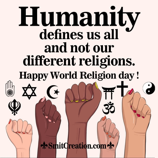 Happy World Religion Day Quote Image