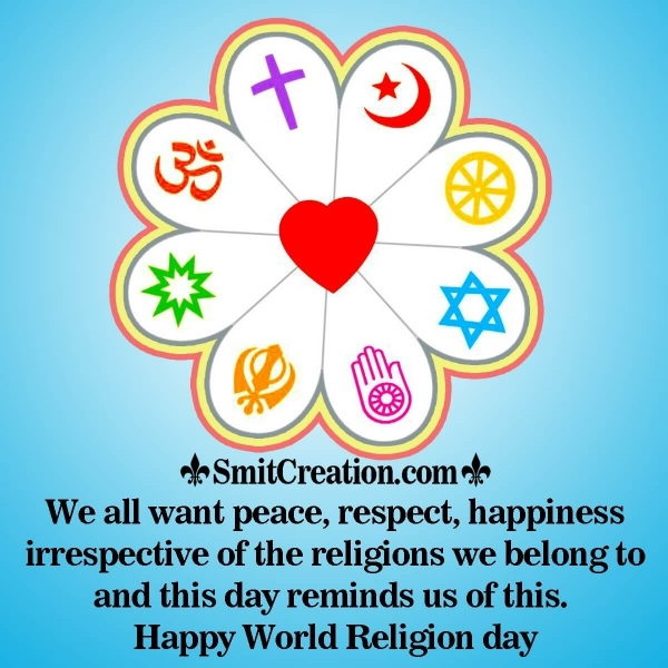 Happy World Religion Day Message Image