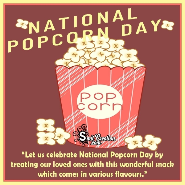 Happy National Popcorn Day Greeting