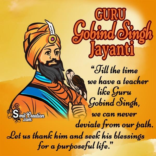 Happy Guru Gobind Singh Jayanti Whatsapp Status