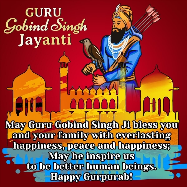 Happy Guru Gobind Singh Jayanti Wishes, Blessings, Messages Images
