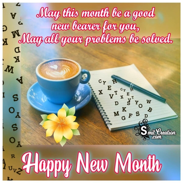 Happy New Month Message Picture