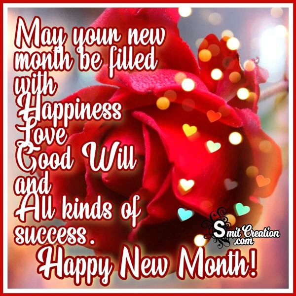 Happy New Month Wishes For Whatsapp