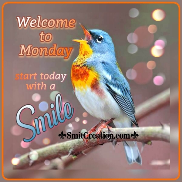 Welcome To Monday Start With Smile