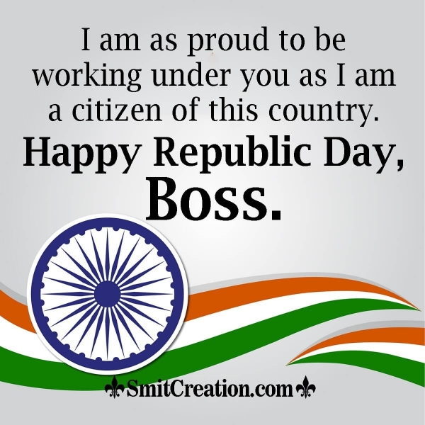 Republic Day Wishes to Boss