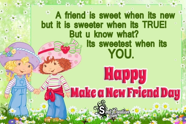Make a New Friend Day Messages