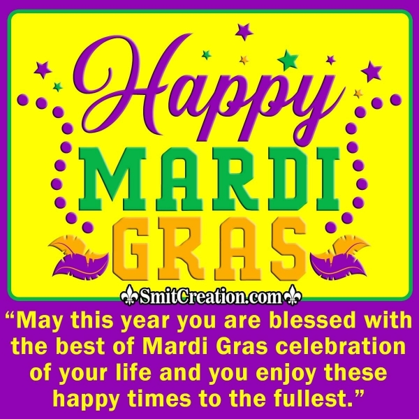 Happy Mardi Gras Message Image